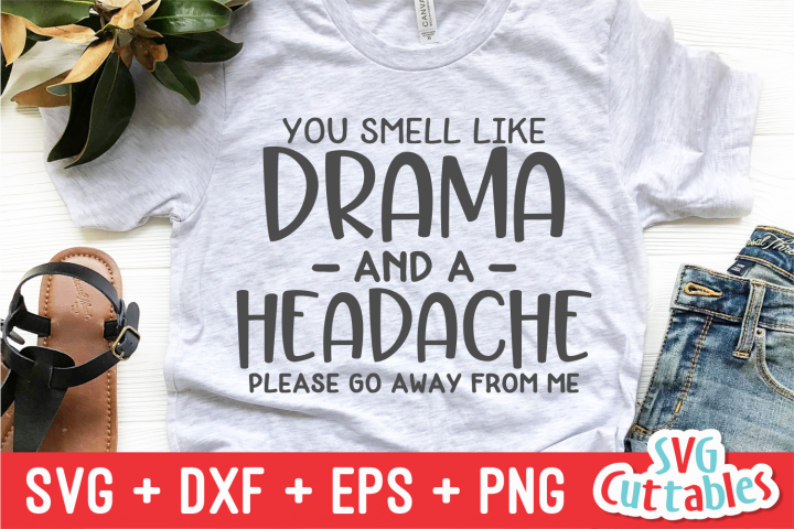 You Smell Like Drama | Sarcastic | SVG Cut File