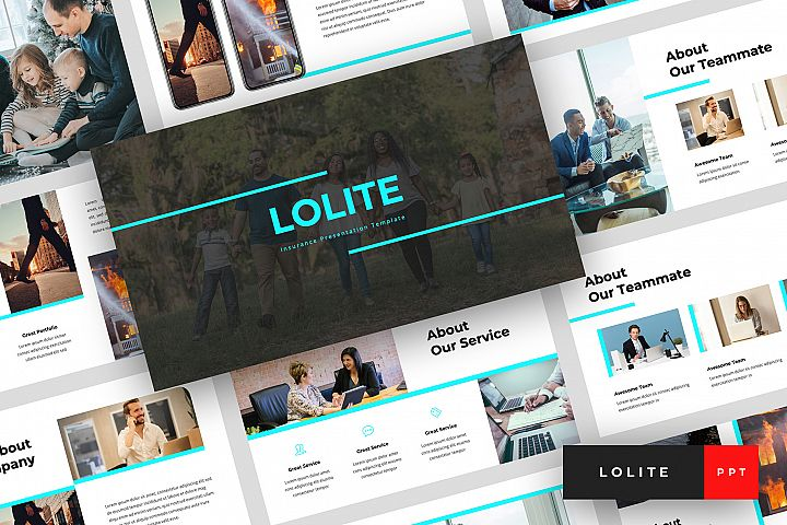 Lolite - Insurance PowerPoint Template