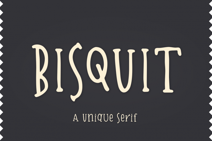 Bisquit | A Unique Serif