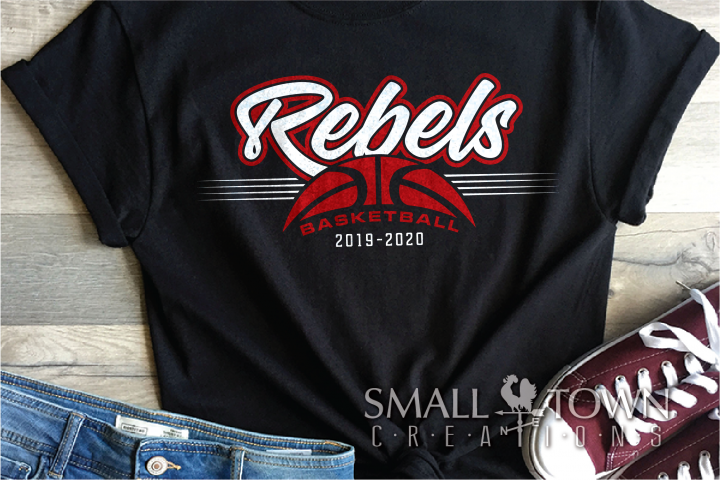 Rebel, Rebel Basketball, Sports, Design, PRINT, CUT, DESIGN