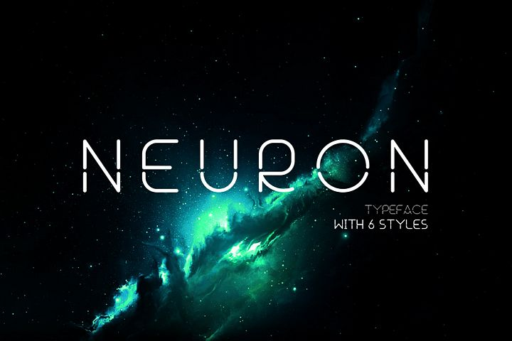 Neuron Spatial Typeface 6 Weights