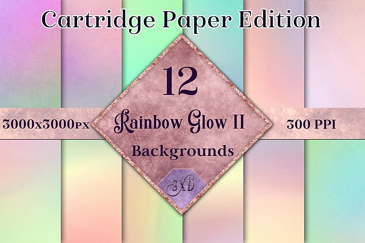 Rainbow Glow II - Cartridge Paper Edition - 12 Backgrounds example
