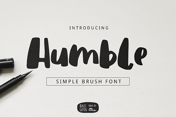Humble Brush Font