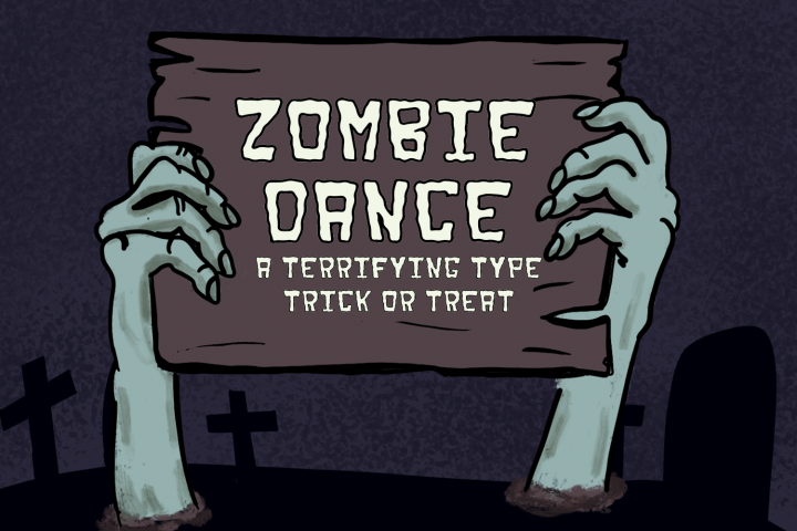 Zombie Dance - A terrifying type trick or treat!