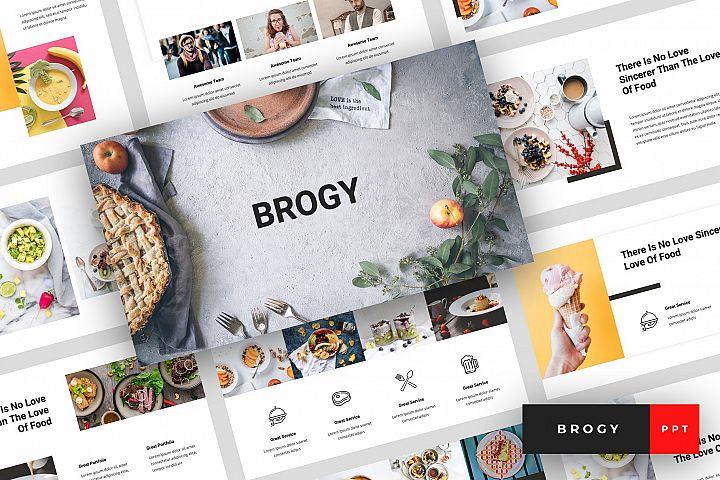 Brogy - Food & Beverages PowerPoint Template