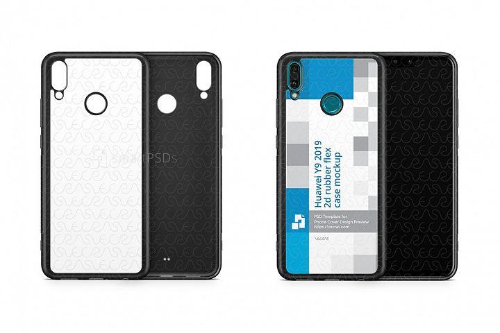 Huawei Y9 2d RubberFlex Case Design Mockup 2019