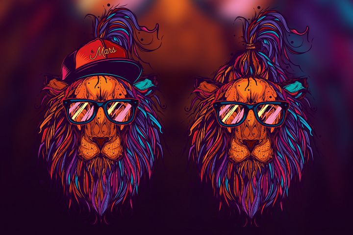 Lion hipster style