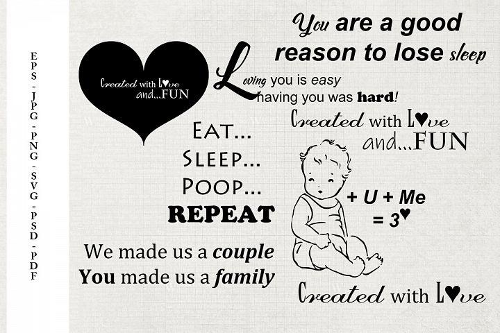 Welcome Baby Word Art