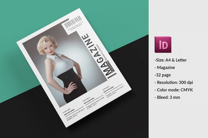 Fashion Lookbook, Magazine Template |InDesign Template