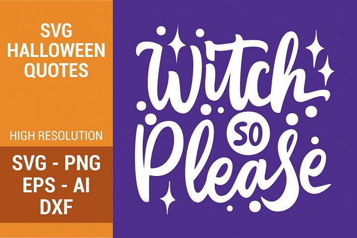 SVG - Witch So Please Handlettering