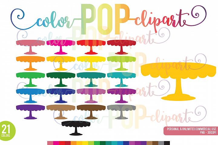 Rainbow Cake Stand Clipart, Cake Stand, Cake, Celebration, Icon PNG Planner Sticker Clipart Graphics Planner Sticker Icon Commercial Use