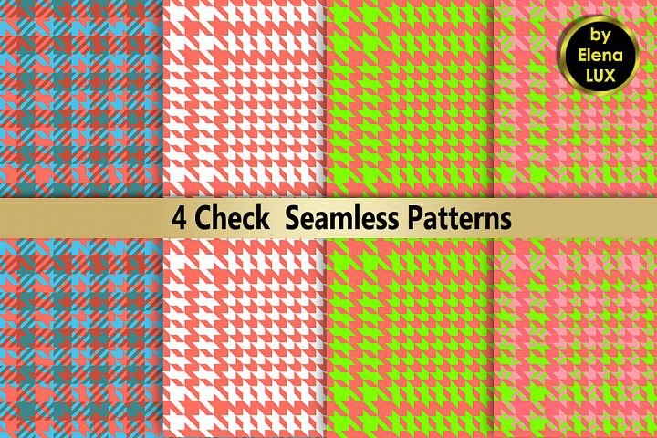 Houndstooth Seamless Pattern Set