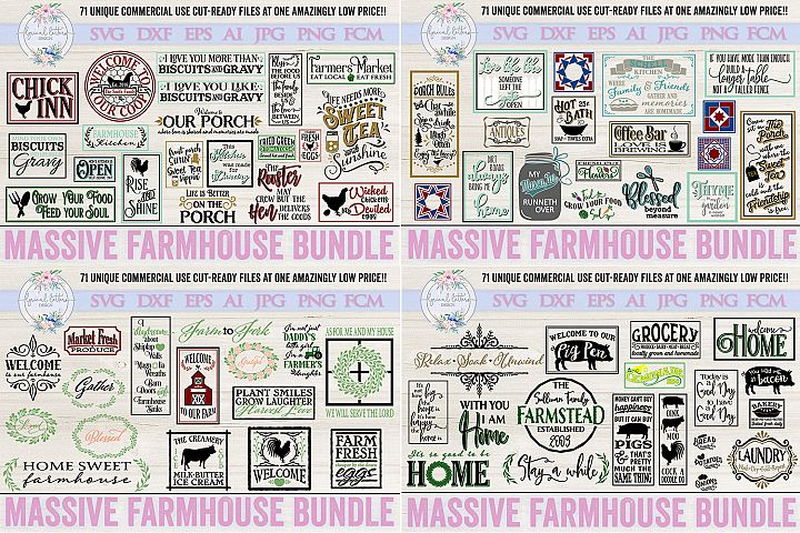 Farmhouse Bundle of 71 SVG DXF Cut Files