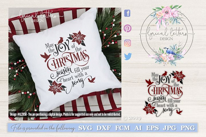 Joy of the Christmas Season with Cardinal SVG LL265B