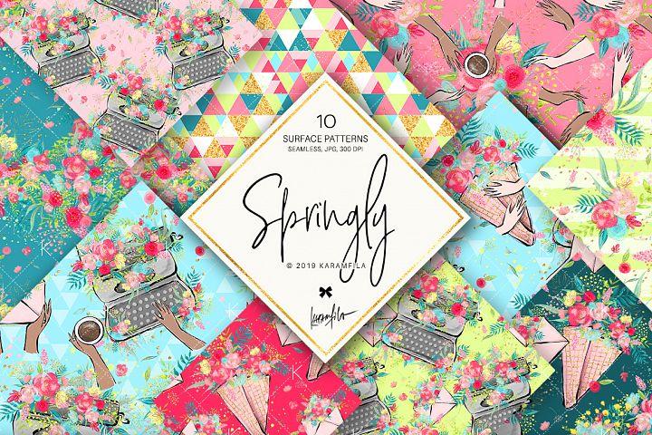 Spring Flowers Feminine Patterns