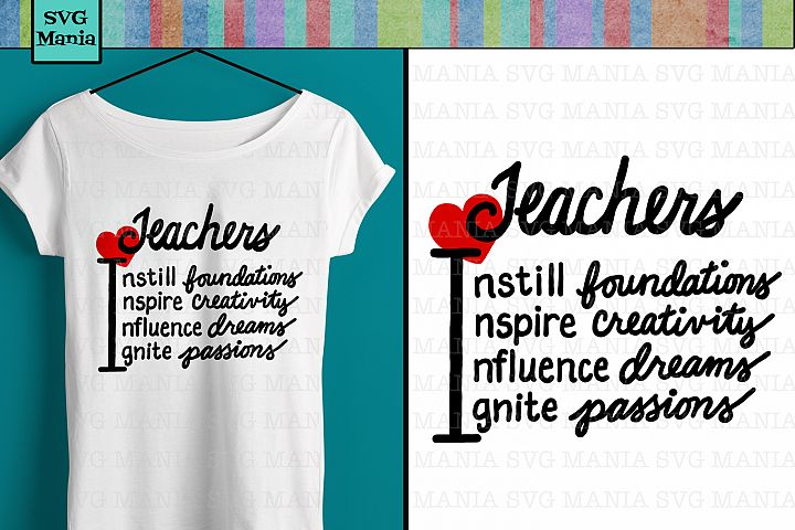 Inspirational Teacher SVG, Teacher Saying SVG, Teacher SVG