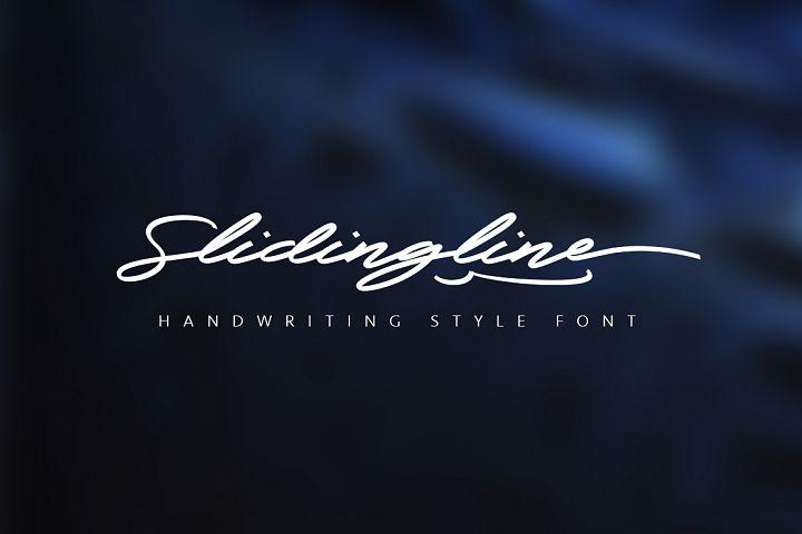 Slidingline Script Typeface