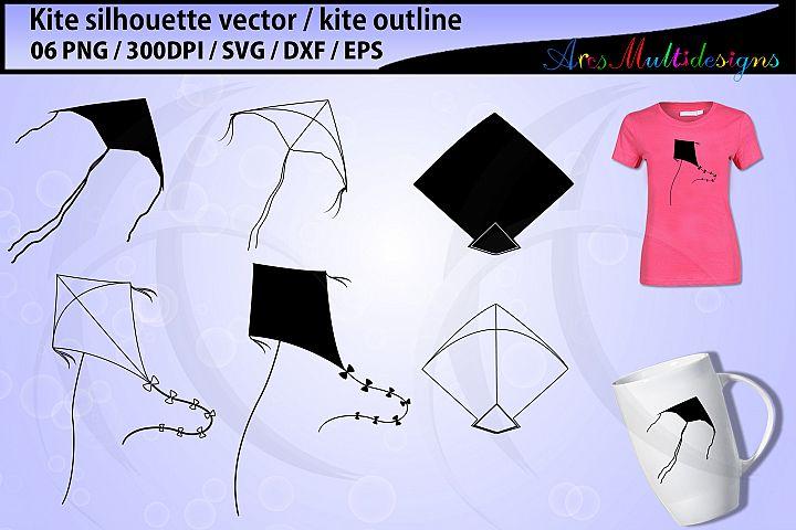 Kite svg / kite silhouette / kite clipart / kite outline