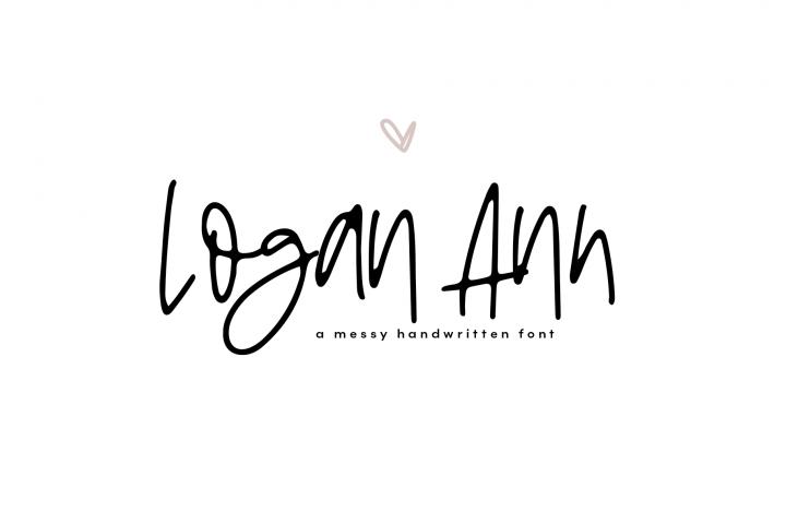 Logan Ann - A Handwritten Font