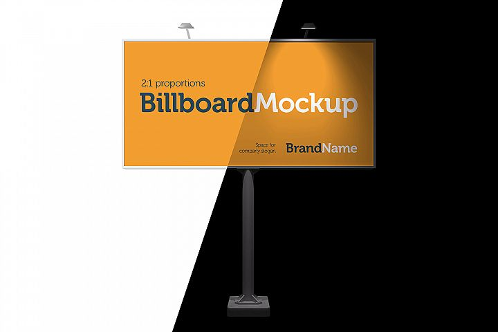 Billboard Mock-Ups. Day & night view