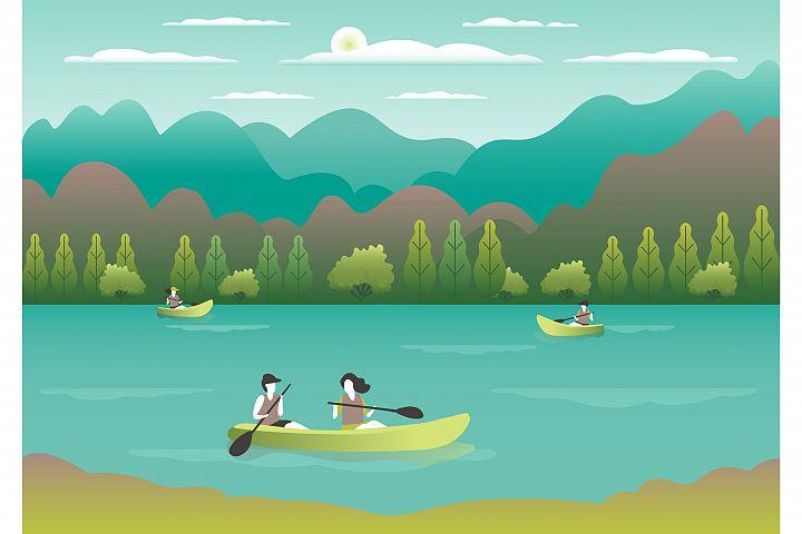 People hobbies activities outdoor illustrations