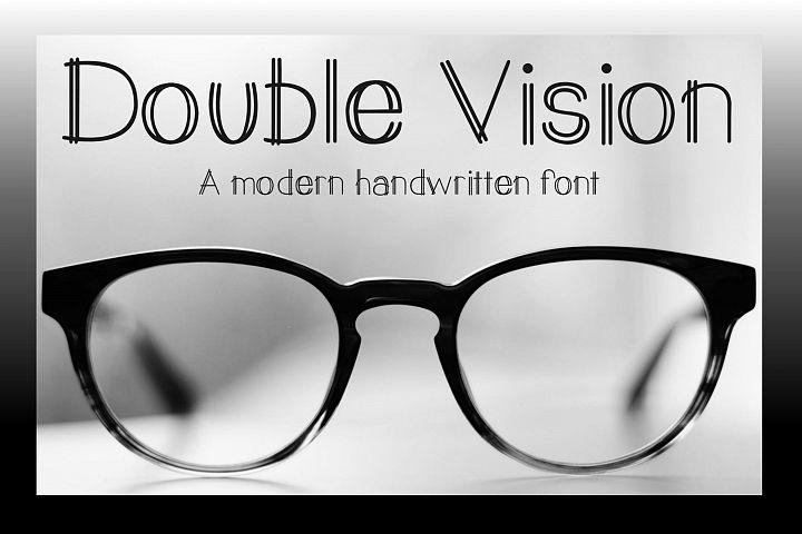 Double Vision- A modern handwritten print font