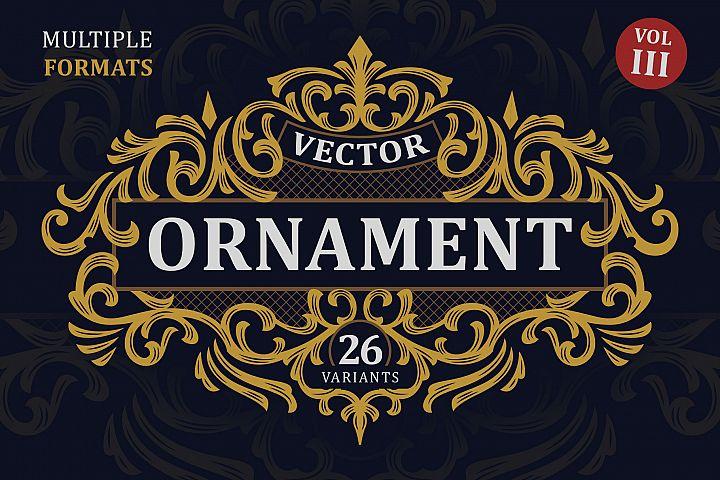 Victorian Vector Ornaments Vol. III