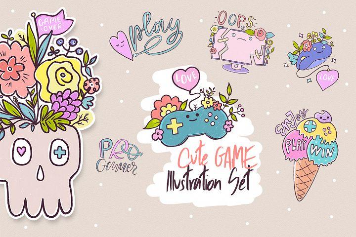 Cute Game. Illustration Set.