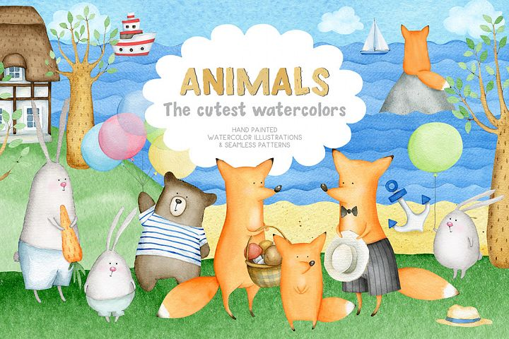 Animals. Cutest Watercolors