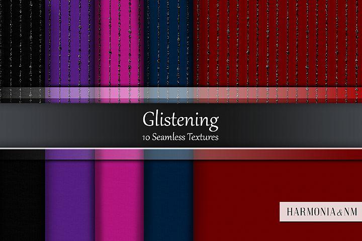 Glistening 10 Seamless Glitter Fabric Textures