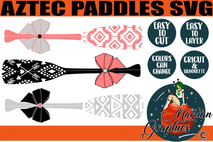 Aztec Paddles SVG