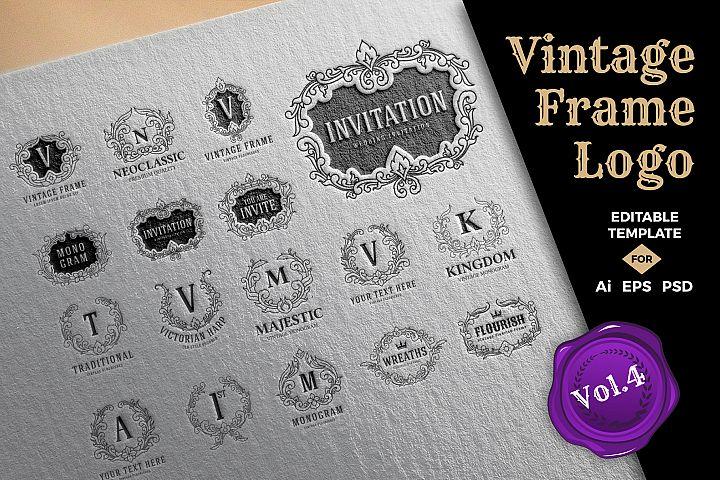 Vintage Frame Logo Template Vol.4