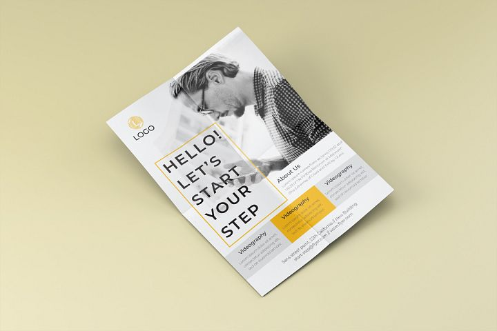 Step promotion flyer template