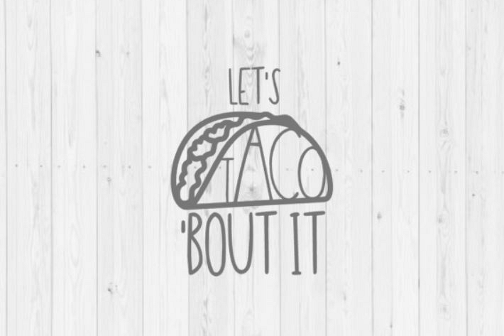 Taco SVG vector image cut file for Cricut and Silhouette