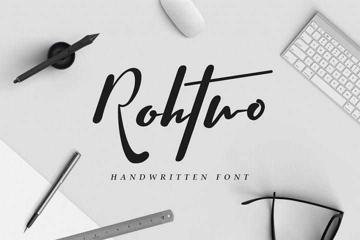 Rohtwo Typeface Signature