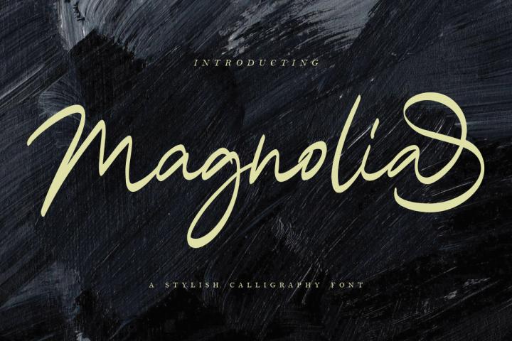 Magnolia A Stylish Calligraphy Font