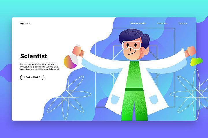 Scientist - Banner & Landing Page
