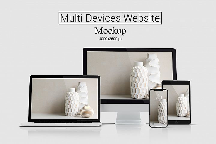 Multi Devices Website Mockup