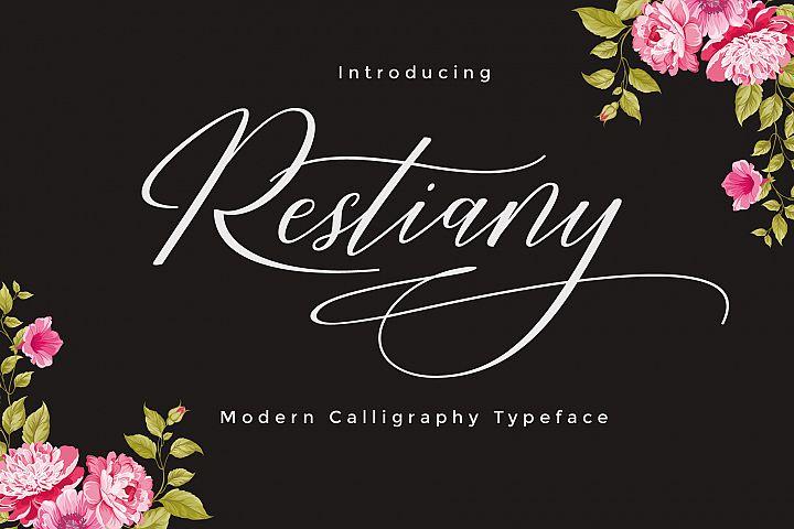 Restiany Script | Sweet Font