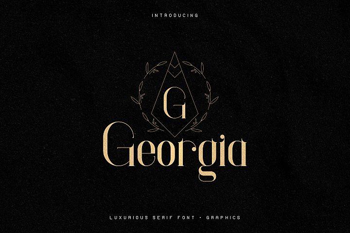 Georgia Luxurious Serif font Extra