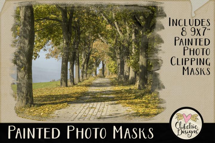 Clipping Masks - Painted Photo Photoshop Masks & Tutorial