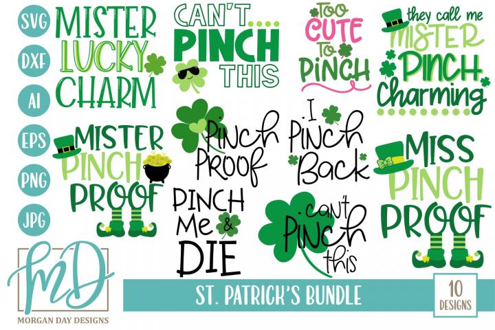 St Patricks Day Bundle SVG, DXF, AI, EPS, PNG, JPEG