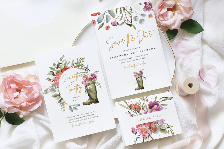 Wellington Boot Wedding Suite Template