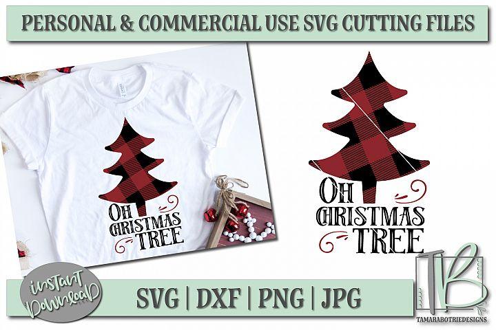 Buffalo Plaid SVG Cut File, Oh Christmas Tree SVG