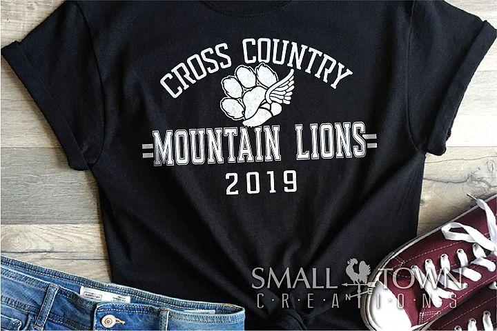 Mountain Lion Cross Country, Team, PRINT, CUT & DESIGN