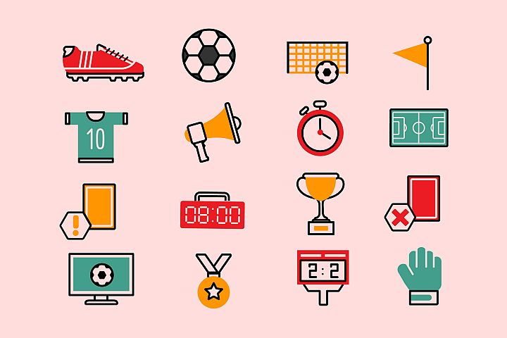 Soccer Colorful Icons