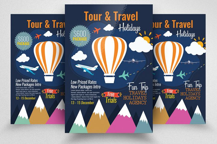 Tour & Traveling Agency Flyer Template