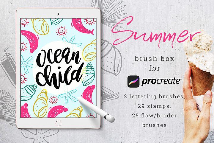 Summer Brush Box for Procreate