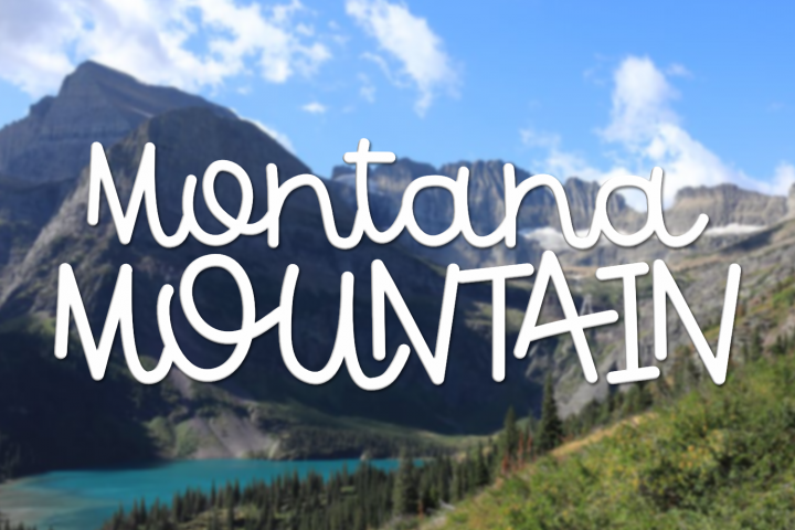 Montana Mountain - A Fun Font With Some Interlocking Letters
