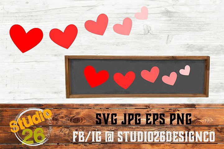 Valentine - 5 Hearts - SVG EPS PNG